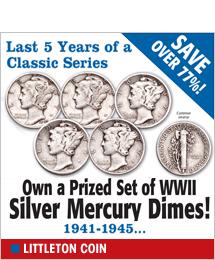 Littleton Coin - WWII Silver Mercury Dimes