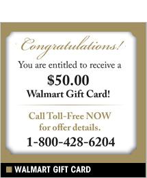 Walmart - $50 Free Gift Card, Magazine Subscriptions