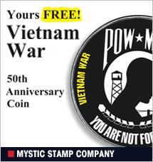 Mystic Stamp - Free Vietnam War coin