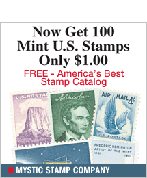 Mystic Stamp - 100 Mint U.S. Stamps