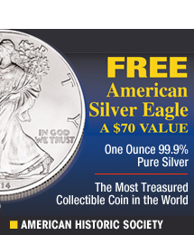 American Historic Society - Free Silver Eagle Silver Dollar